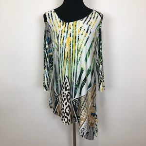 Mesmerize cold shoulder tunic blouse NWT small